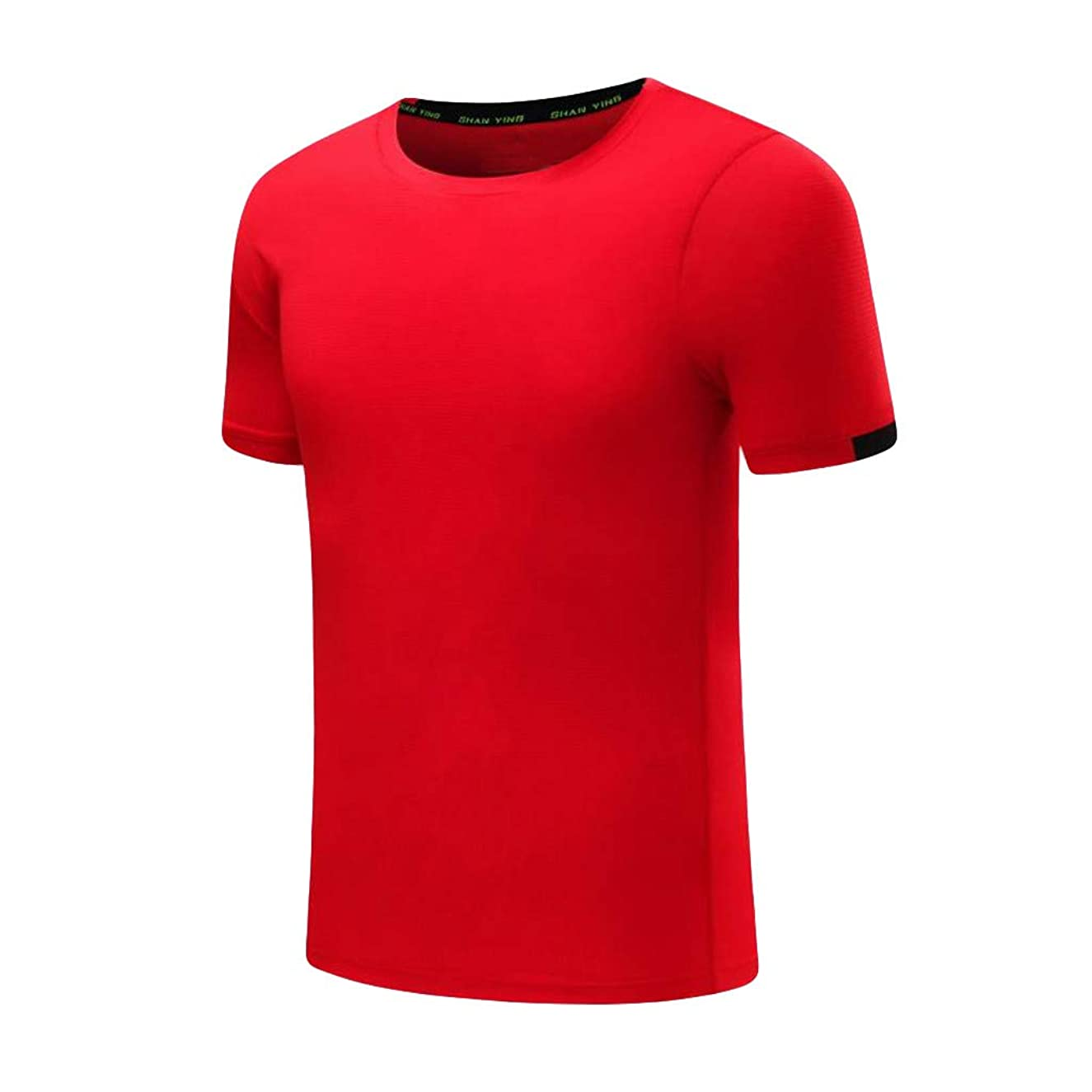 Men's Summer Casual O-Neck T-Shirt Fitness Sport Fast-Dry Breathable Top Blouse