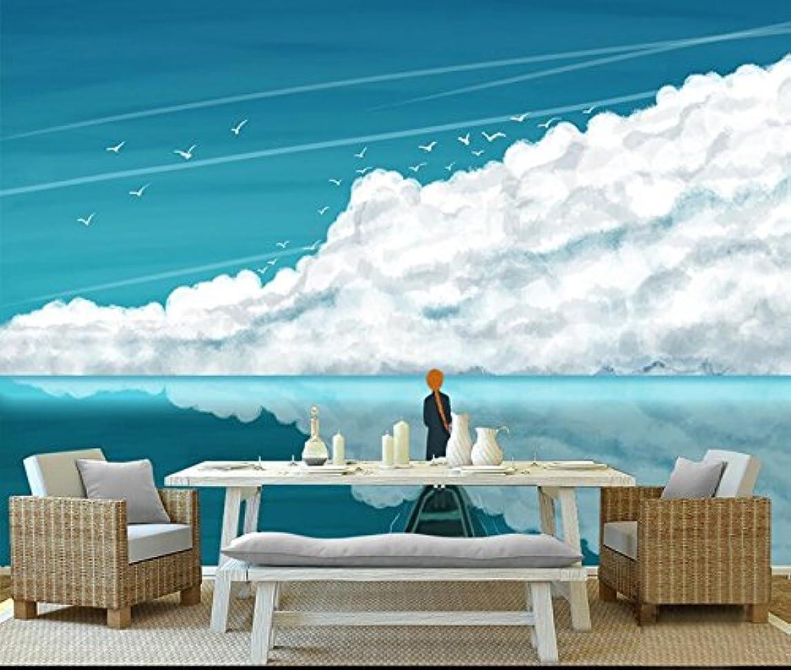 間違えた死にかけている忘れられないMbwlkj カスタム自然壁画手塗りの海 3D の風景壁紙環境にやさしいテレビの背景の壁の壁画の壁紙の厚さ-450Cmx300Cm