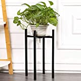 Sunnyglade Plant Stand Metal Potted Plant Holder Sturdy, Galvanized Steel Pot Stand with Stylish Mid-Century Design, Medium for Indoor, Outdoor House, Garden & Patio (15' High)