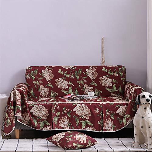 Sofá floral de 1 pieza cubiertas de sofá Patrón Sillón ajustado Slupseat SlighCover Universal Settee Seccional Muebles Protector,3seater