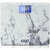 iDOO High Precision Digital Bathroom Weight Scale 440 Pound Capacity, Ultra Wide...