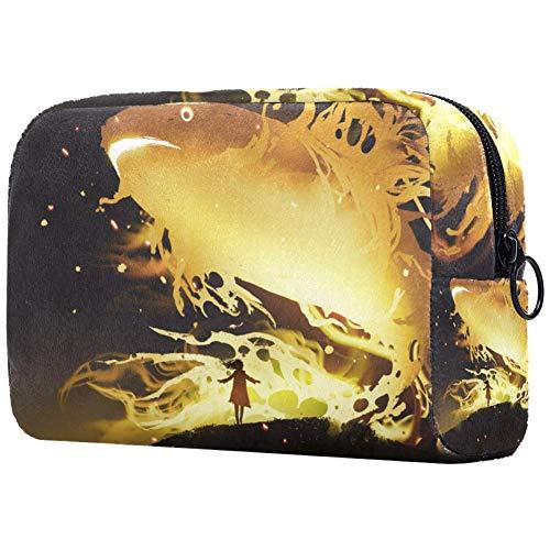 Trousse de toilette pour femme Motif poisson doré