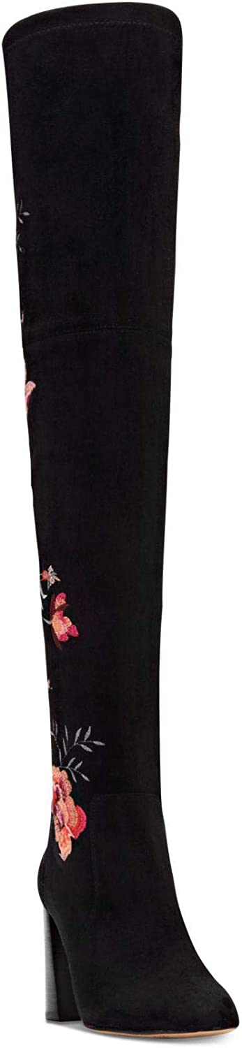 INC International Concepts Womens Delisa 2 Closed Toe Knee High, Black, Size 5.5