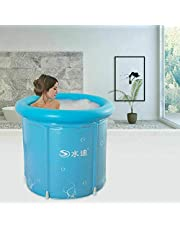 Opblaasbare badkuip van pvc, 80 cm, dik en warm, voor volwassenen, opvouwbaar bad, SPA mobiel bad, familiebad, kinderen