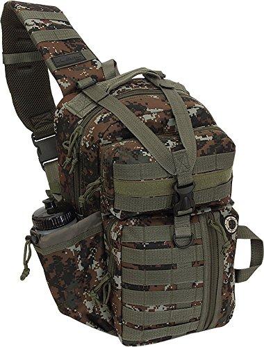 Nexpak Tactical Messenger Sling Bag Outdoor Camping Hiking Travel Backpack TL318-DMBRN Digital Camo Brown