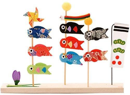 リュウコウドウ『五月人形三本立ち鯉のぼり(2-134)』