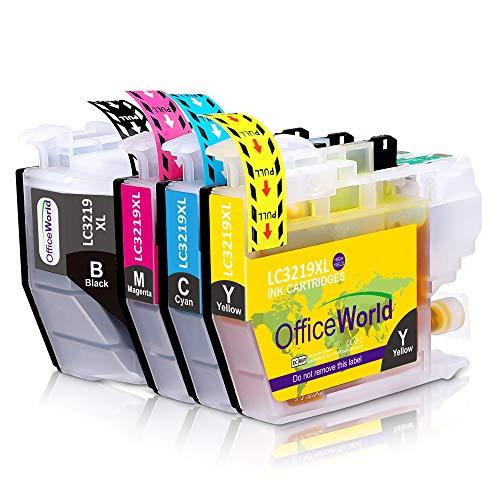 OfficeWorld LC 3219 Cartuchos de tinta Reemplazo para Brother LC3219XL Compatiable con Brother MFC-J5330DW MFC-J5335DW MFC-J5730DW MFC-J6930DW MFC-J6530DW MFC-J6935DW MFC-J5930DW