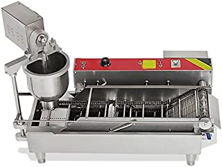 Zinnor Automatic Donut Making Machine, Automatic Commercial Doughnut, 7L Donut Maker, 3 Sizes Moulds Auto Donuts, Forming, Frying, Turning, Automatic Temperature Control (2-5days &USA Shipping)