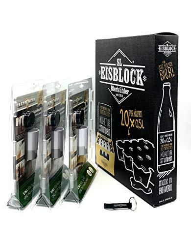 Bier Set - 3er Taste Hero mit SL Eisblock für 0,5l Flaschen