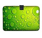 Funda estilizada y blanda para Apple MacBook 11' 13' MacBook Air, 13' MacBook Pro, MacBook Pro Retina, PowerBook G3 G4, iBook, Core 2Duo, varios diseños disponibles Vert avec des bulles 11.6' (210x315mm)