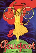 WONDERFULITEMS Peugeot Paris France Woman ON TOP of The World Carrying Light Bicycle French Bike Cycling 20