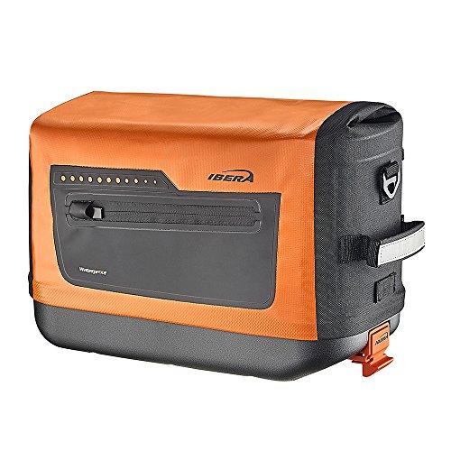 Ibera Fahrradtasche – PakRak Clip-On Schnellverschluss Wasserdicht Fahrrad Pendlertasche, Orange