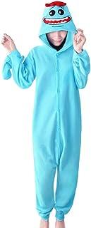 wotogold Pijamas de Rick Azul Animal Trajes de Cosplay