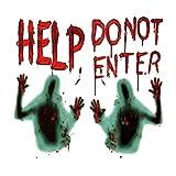 Tuopuda Halloween Fensterbilder Horror Zombie Aufkleber