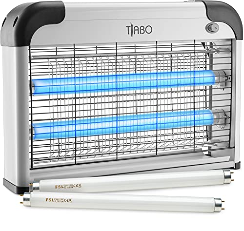 Tiabo Electronic Bug Zapper Indoor Insect Killer - 20W Mosquito, Fly, Moth, Gnat, Wasp or Any Pest Killer Electric Zapper UV Bulbs - for Residential & Commercial use