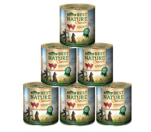 Dehner Best Nature Hundefutter, Senior Lamm und Geflügel, 6-er Pack (6 x 800 g)