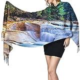 KENDIA Fondo de acuario pecera suave chal bufanda cachemir cálido invierno bufanda envuelve Pashmina chales