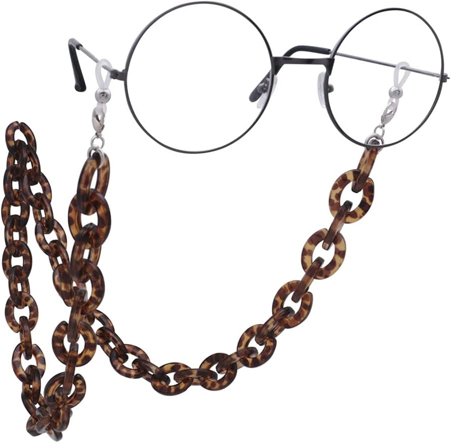 DIAOD Acrylic Anti-Slip Glasses Chain Reading Eyeglasses Strap Cord Holder Lanyard for Women Men Eyewear Jewelry (Color : B)