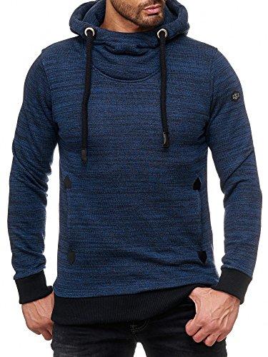 Red Bridge Hombre Sudadera con Capucha Mezcla Grueso Jersey con Cordón Suéter Casual Azul Oscuro