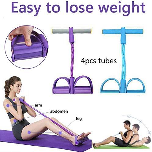 Cuerda de tensión Multifuncional Fitness Pedal Ejercitador Cuerda Pull Bands Yoga Fitness...