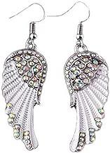 Gyoume Women's Earrings Pearl Studded Spiral Design Zircon Hoop Drop Earrings Jewelry Party Earring