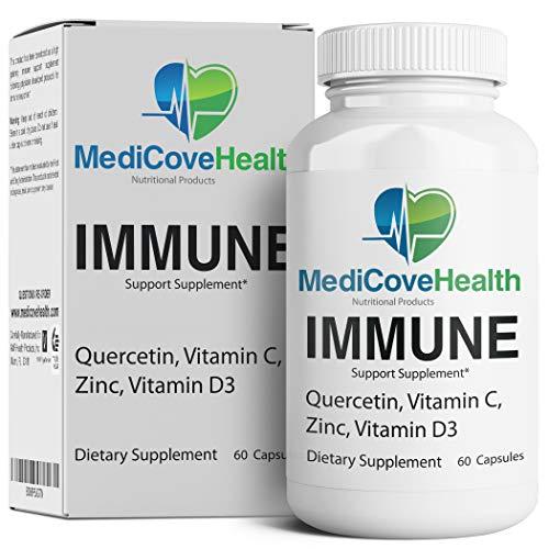 Immune Support: Quercetin, Vitamin C, Zinc, Vitamin D3