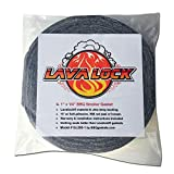 Grey Lavalock Gasket High Temp BBQ Smoker Grill Self Stick 1' x 1/4' x 15'
