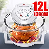 1300W Conventional Infrared Oven Roaster Air Fryer Turbo Electric Cooker 12L 110V-240V Multifunction BBQ Bake Cook With...