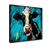 Musemailer Holstein Cow Canvas Wall Decor...