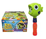 Fish Bubble Machine, Motorized, Bottle Handheld, Rainbow Bubbles