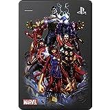 Seagate Game Drive für PS4 Marvel's Avengers LE – Avengers Assemble 2TB Externe Festplatte – USB 3.0, metallic-grau, offiziell lizenzierte Kompatibilität mit PS4 (STGD2000104)