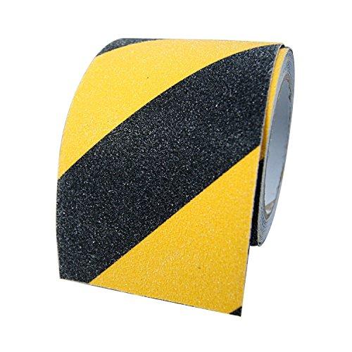BigTron 10cm x 5m Stark rutschfeste Tapes Warnklebeband Anti-Rutsch-Klebeband f¨¹r Innen und Au?enbereich(Schwarz und Gelb)