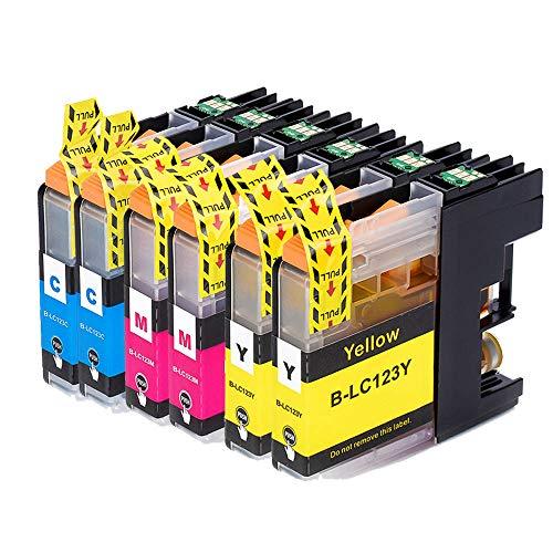 Teland - Cartuchos de tinta compatibles con Brother LC123 XL para Brother MFC-J4610DW MFC-J6520DW MFC-J4410DW MFC-J6920DW MFC-J6720DW DCP-J132W MFC-J870DW (6 unidades)