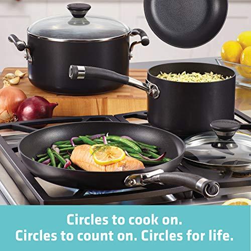 Circulon 83465 Acclaim Hard Anodized Nonstick Cookware Pots and Pans Set, 13 Piece, Black