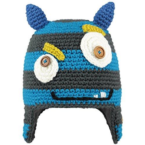 BARTS Monster Beanie pasamontañas, Gris Stile Mostro con Orecchie BLU, (Talla...