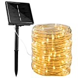 Solar Rope String Lights Outdoor 72Ft 200 Led Waterproof Solar Powered Fairy...