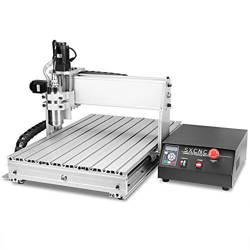 ZauberLu CNC Graviermaschine 6040Z 4-Achsen Gravur Maschine Mit USB-Funktion 4MM Engraver Machine Fräsmaschine für Metall Glas Holz Stein