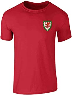 Wales Soccer Retro National Team Graphic Tee T-Shirt for Men