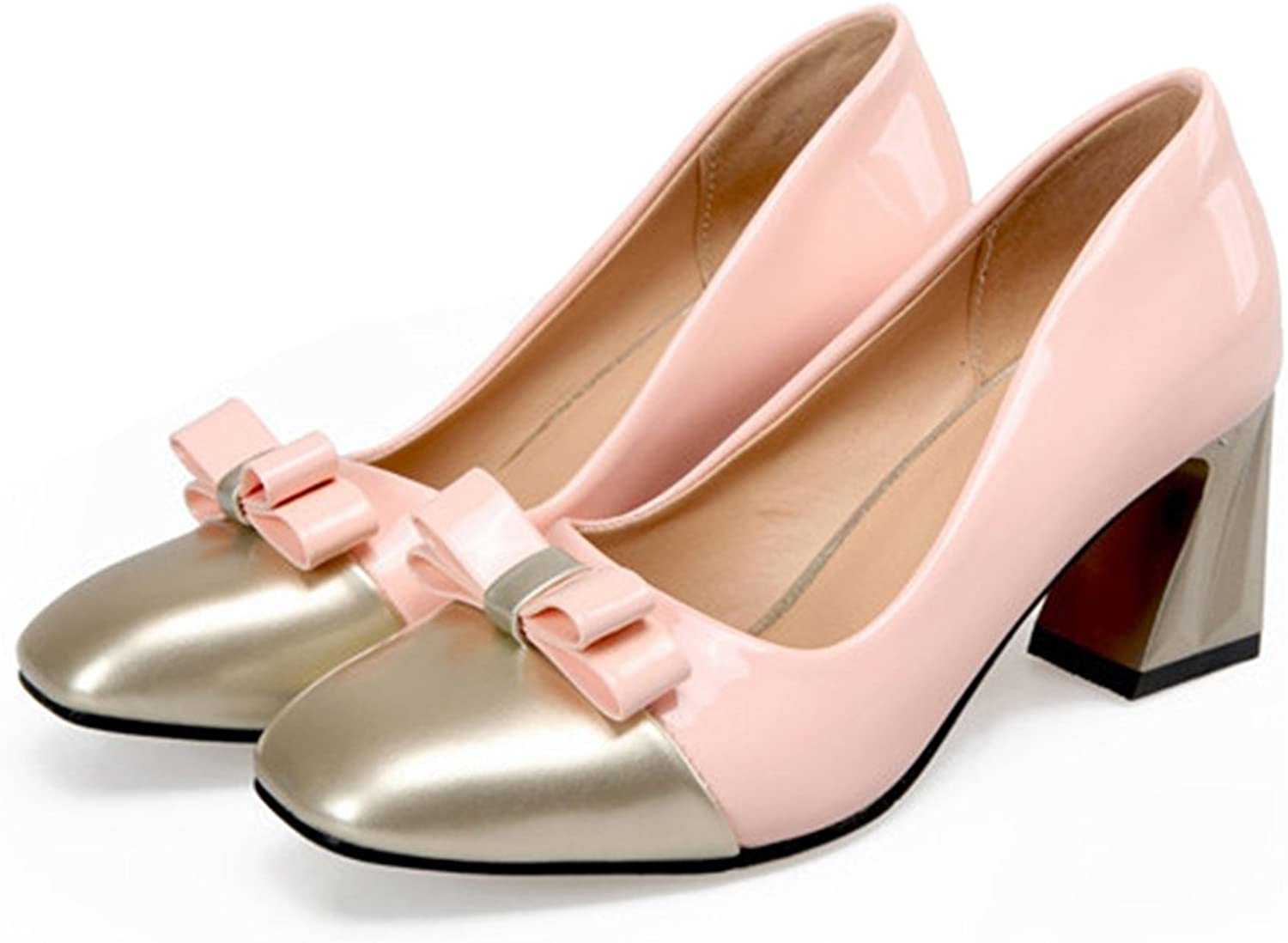Small Square Last Chromatic color Fashionable shoes pink 39