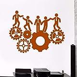 Trabajo duro Vinilo Tatuajes de pared Equipo de oficina Equipo de trabajo Inspiración Pegatinas Mural Papel tapiz de oficina Etiqueta de la pared Dormitorio Poster color-2 56x76cm
