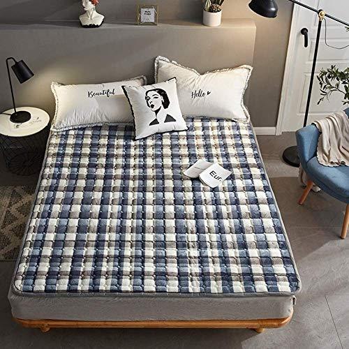Colchón de Suelo japonés Colchón de futón, colchoneta para Dormir colchón Enrollable Plegable para niños y niñas, para Dormitorio, colchón para niños, tumbonas y sofás, E, 120x200cm