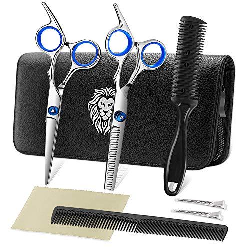 Professional Hair Cutting Scissors Set Hairdressing Scissors Kit, Hair Cutting Scissors, Thinning...