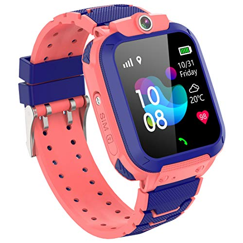 GPS Reloj Inteligente Niña - Smartwatch Niños Reloj GPS Niños Localizador, Reloj...
