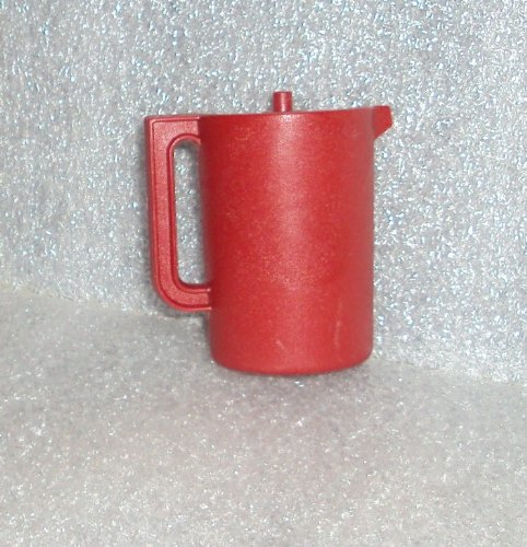 Rare Collectible Tupperware Mini Push Button Pitcher Refrigerator Magnet Cranberry Red