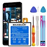 (Upgraded) Google Pixel 2 Battery, MAXBEAR 2800mAh Li-Polymer Battery BG2W Replacement for HTC Google Pixel 2 (5.0'') G011A-B with Repair Screwdriver Kit Tools