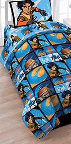Disney Star Wars Rebels 5 Piece Boys Twin Comforter Sheet Set Tote Bag Bedding