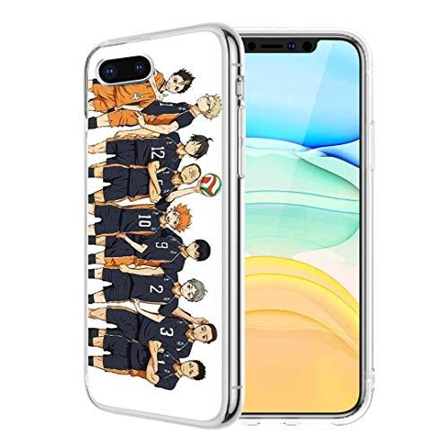 Haikyuu Schutzhülle für iPhone SE 2020 / 7 / 8, transparent, weich, TPU, flexibel, von Karasuno