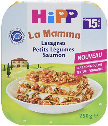 Hipp Lasagnes Petits Légumes Saumon Dès 15 Mois 6 Assiettes de 250 g