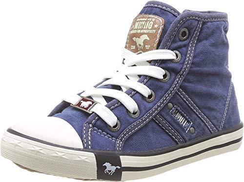 MUSTANG Unisex-Kinder 5803-503-841 Hohe Sneaker, Blau (Jeansblau 841), 28 EU