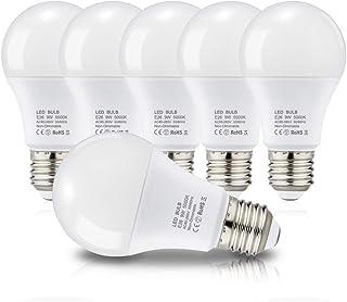 LED電球 E26口金 電球 60W形相当 昼白色 9W 955lm 広配光タイプ 省エネ 高演色 密閉形器具 断熱材施工器具対応(6個入り 昼白色)